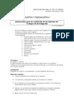 2010 2nd - Instrucciones Informes Trabajos Investigacion UNTREF
