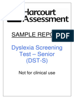 DST-S Sample Report