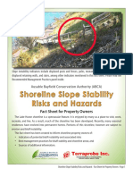 Fact Sheet Shoreline Slope Stability Risks Hazards LETTER