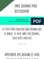 25 Citas Sobre El Aprendizaje de Idiomas