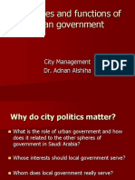 Structures n Functions of Urban Government