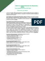 Oferta Academica Mba 17-18