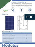 Ficha Tecnica Placa Solar Amerisolar 270w
