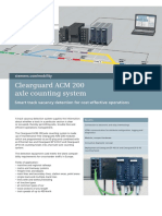 Datasheet Clearguard ACM 200 Axle Counting System AU