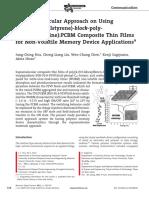 A Supramolecular Approach on Using Poly