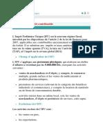 Impôt Forfaitaire Unique- Petit Commercants (1)