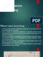 Three-Wire and Reciprocal Leveling