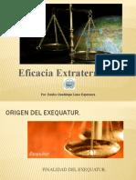 Eficacia Extraterritorial (Exequatur)