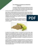 Aplicacion de almidon de plátano