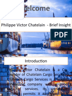 Philippe Victor Chatelain - Brief Insight