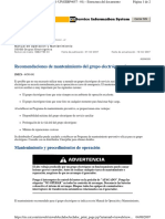 51. Recomendaciones de Mantenimiento Del Grupo Electrógeno de Reserva