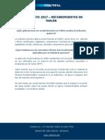 FAQs Agosto 2017 - Recubrimientos Teflón