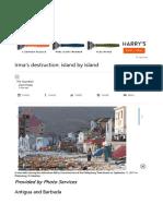 Irma's Destruction, Island by Island