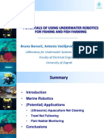Potentials of Using Underwater Robotics for Fishing and Fish Farming