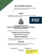 Partes de Informe de Practica 2013