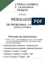 resolucion de problemas disoluciones