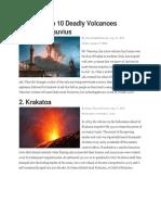 Top 10 Deadly Volcanoes