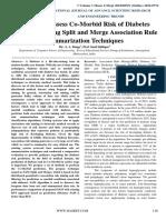 Survey on Assess Co-Morbid Risk of Diabetes Mellitus by using Split and Merge Association Rule Summarization Techniques