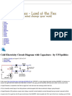 Cold Electricity Circuit Diagram with Capacitors - by UFOpolitics - Tír na Saor ~ Land of the Free