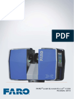 e1090 Faro Laser Scanner Focus3dx330 Manual Pt