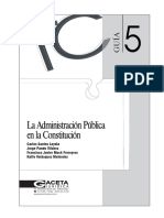 Guia 5 La Administracion Publica en La Constitucion