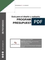 Guía Para El Rediseño de Programas Presupuestales
