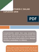 Analisis Vitamin c Dalam Cuplikan Urin