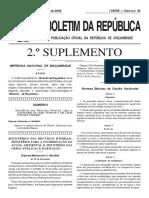 DiplomaMinisterial189-2006 Normas Basicas Gestao Ambiental