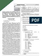 Decreto Supremo que aprueba el Plan de la Reconstrucción al que se refiere la Ley N° 30556 Ley que aprueba disposiciones de carácter extraordinario para las intervenciones del Gobierno Nacional frente a desastres y que dispone la creación de la Autoridad para la Reconstrucción con Cambios