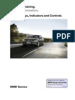 BMW 06_F30 Displays, Indicators and Controls