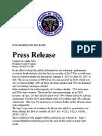 Press Release Sept. 12 2017