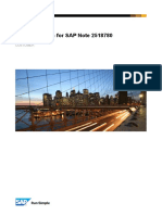 Documentation SAP Note 2518780