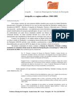 Projeto Paradidático Da Comissão Da Verdade de Petrópolis