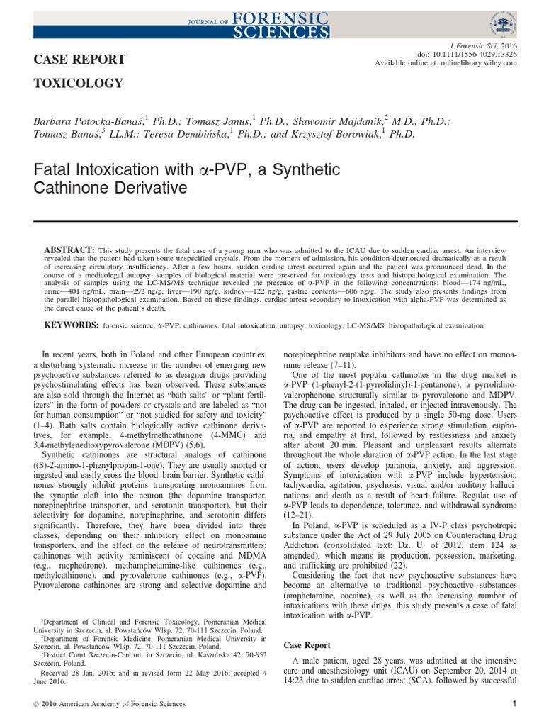Case Report Flakka | Psychoactive Drugs | Medicine