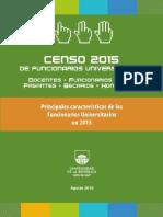 Informe Censo Funcionarios Universitarios 2015