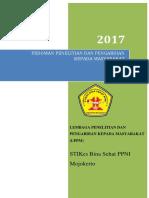 Panduan Penelitian Dan Pengabdian Masyarakat Lppm Stikes Ppni 2017