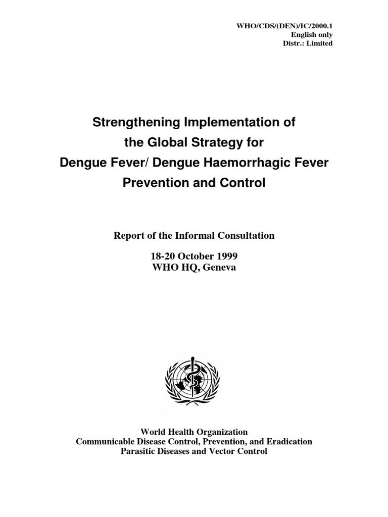 Dbd Who Pdf World Health Organization Preventive Healthcare