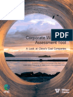 Corporate Water Risk Assessment Tool