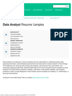 Data Analyst Resume Samples JobHero