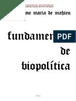 Fundamentos de Biopolítica - Jaime Maria de Mahieu