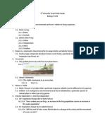 2nd Semester Exam Study Guide (Biology) Unit 6