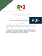 Assemblea Circoli PD Europa - 1 aprile Madrid - Dichiarazione Su Voto Online