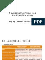 4. Guía Para El Muestreo de Suelo. Guía Para El Muestreo de Suelo. Guía Para El Muestreo de Suelo-1
