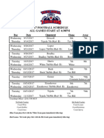 2017 thms football schedule updated