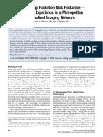 CT Imaging Radiation Risk Reduction—
