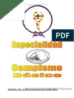 Campismo-Especialidad Para Tropas