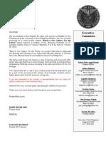 Solicitation Letter Draft