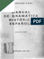 Manual de Gramatica Historica Espanola