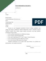 Surat Permohonan Beasiswa s2