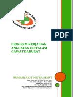 Contoh Program Kerja & Anggaran Igd